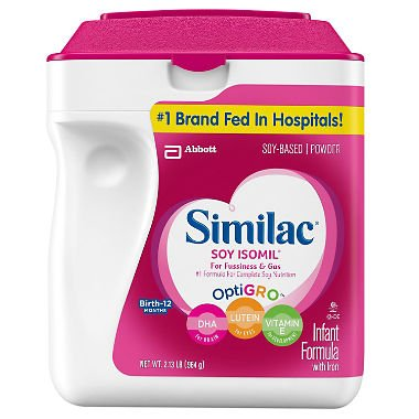 Similac - Soy Isomil Infant Formula, 34 oz. - 2 pk (Best Soy Formula For Constipation)