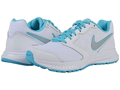 Nike Herren Downshifter 6 Laufschuhe Weiß / Metallic Silber / Gmm Blau