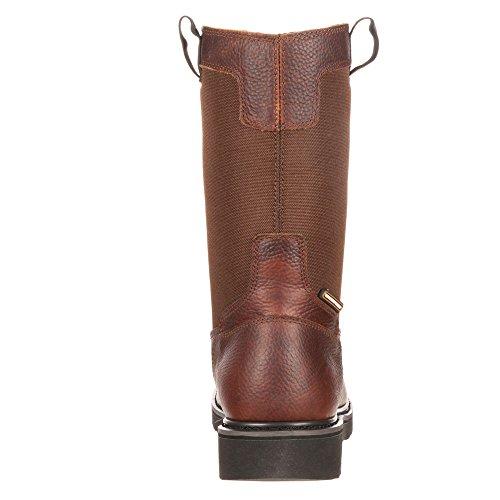 Georgia Boot Mens Gb00037 10 Wellington Composiet Teen Glennville Bruin Lederen Cordura