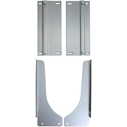 Knape & Vogt PDMKTPT Door-Mount Platinum Bracket Kit, 17.5