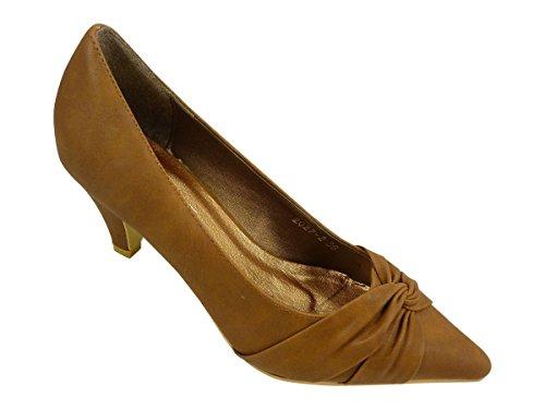 Chaussmaro - Zapatos de Vestir Mujer Marrón - marrón (camel)