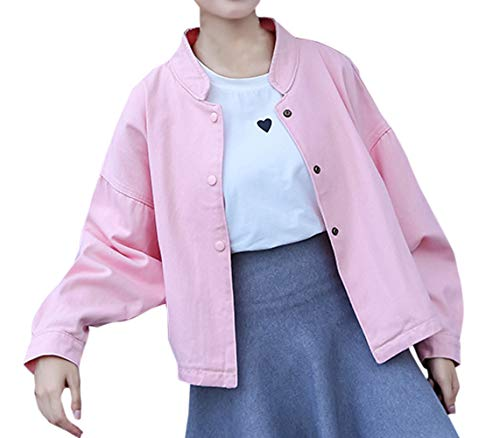 Donna Con Casual Giacche E Oufour Outerwear Tops Rosa Jacket Giacca Coat Cime Autunno Cappotto Manica Lunga Primavera Bottoni tgSnxwnqA