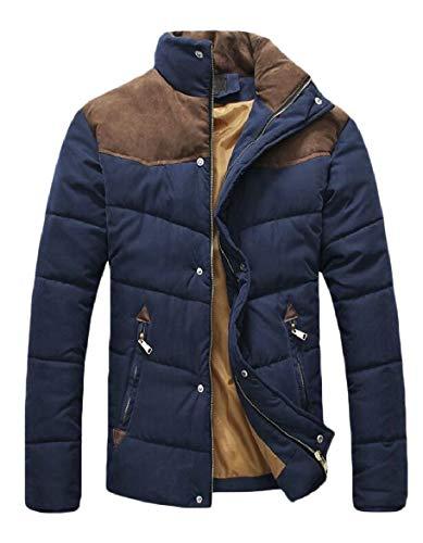Piumino Blu Packable Sicurezza Caldo Mens Di Stanno Navy Inverno Outwear Cappotti Sottile Collare AxFzq