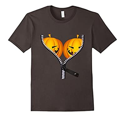Pumpkin Funny BOObs Womens Shirt for Halloween Costumes