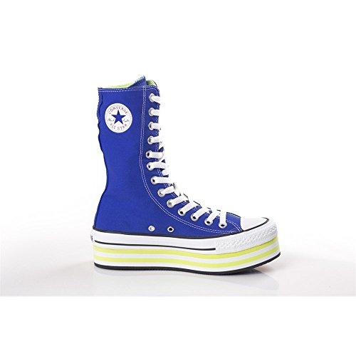 Converse All Star Platform Knee Hi Trainers Black Blue L8YcxQrhCR