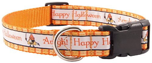 Country Brook Design Deluxe Pirate Halloween Ribbon Dog Collar - Medium