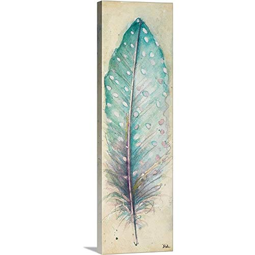 Watercolor Feather I Canvas Wall Art Print, 12