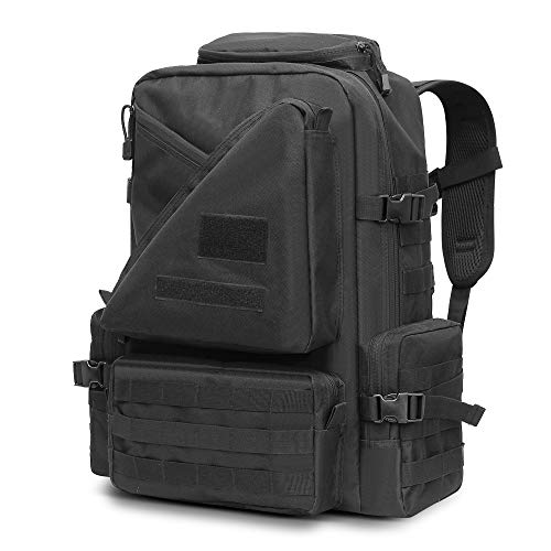 FUNANASUN Tactical Backpack 45L, Assault Pack 3 Day Molle Bug Out Bag Backpacks Rucksack for Outdoors Travel Sport Hiking Camping
