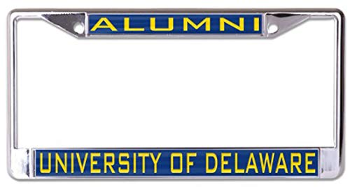 Wincraft University of Delaware Alumni Premium License Plate Frame with Gold Letters