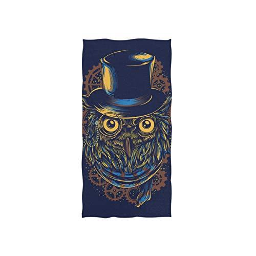 DOMIKING Steampunk Owl Print Soft Bath Towel Absorbent Fade Resistant Pool Beach Bath Towel for Bathroom Hotel Gym and Spa, 30