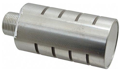 3/4 Male NPT, 1-5/8'' Hex, 4-5/8'' OAL, Muffler 300 Max psi, 70 CFM, Aluminum by Jupiter Pneumatics
