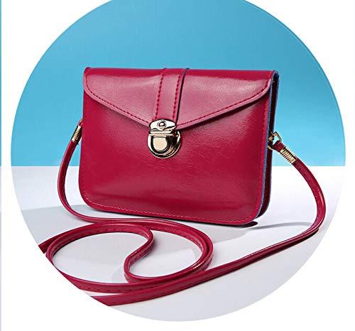 Women messenger bags Vintage style PUsoft leather handbag Sweet cute Cross body handbags,Hot Pink