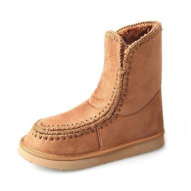 talón marrón zapatos marrón Casual de de plana gris sintética negro de de Desy botas invierno rubor ronda Toe para mujer rosa nieve botas fqx75HBw