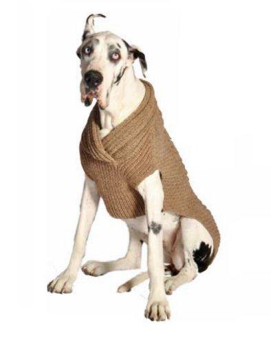 Chilly Dog Ragg Wool Cable Dog Shawl, Medium, My Pet Supplies
