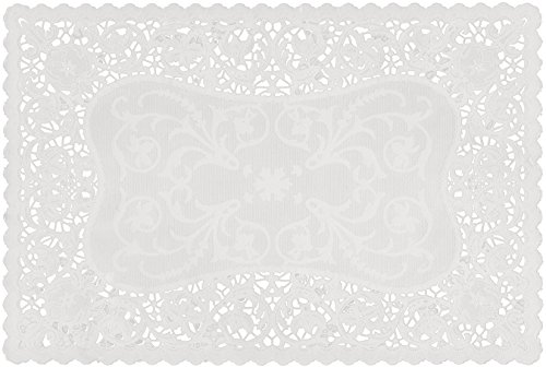 Royal 24010 French Lace Rectangular Paper Placemats, 9.75 x 14.5 Inches, Pack of 16 (24009) ()