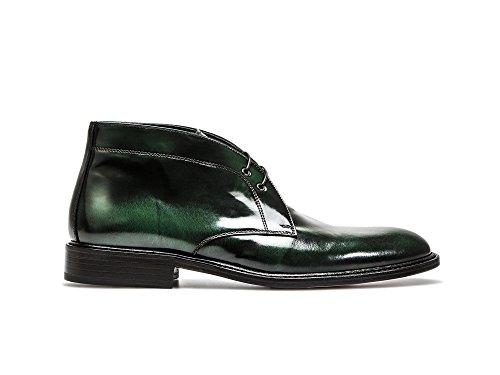 pelle pelle Pelle Uomo Marco Verde verde spazzolata tuo polacchino misura Polo Spazzolata uomo su Polacchino made in Italy da Il DIS e in 100 xItOAI