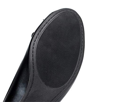 Zapatos de Baja gray Zapatos Moda de FLYRCX Casual de Boca Planos Trabajo cómodo Fondo Mujer Arco Casuales Embarazada Zapatos de de Zapatos Suave Aw7qgZxS