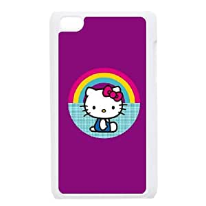Hello Kitty Rainbow iPod Touch 4 Case White Protect your phone BVS_751890