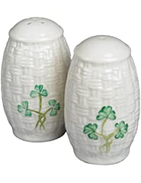 Access Belleek Shamrock Salt & Pepper Set compare