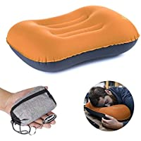 Inflating Camping/Travel Pillow, ieGeek Ultralight Portable Outdoor Inflatable Pillow for Camping, Backpacking, Hiking, Picnic, Outdoor Sports, Air Travel, Car - Neck & Spine Protective Pillow