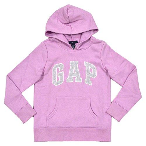 Gap Girls Fleece Arch Logo Pullover Hoodie (Small, (Logo Fleece Pullover Jacket)