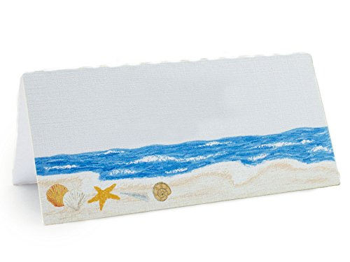 - Summer-Ray 48 White Beach Themed Shells by the Sea Wedding Place Cards