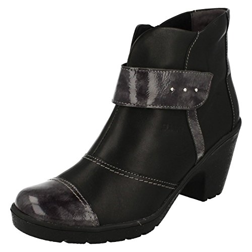 Grey Suave Casual black Ankle Boots Black Black grey Kaley Comfort 7p6xSwv
