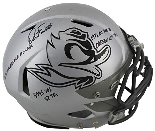 """Dan Fouts""""5x Inscribed"""" Signed Game Used 2016-18 Proline F/S Helmet BAS #P81202 - Beckett Authentication -  Bell Sports Marketing, 143356472371"""