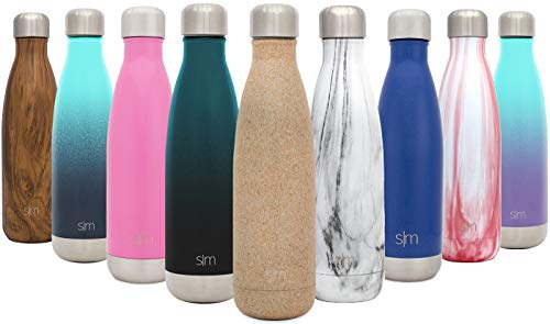 Simple Modern 25oz Wave Water Bottle - Stainless Steel Double Wall Vacuum Insulated Metal Reusable - Leakproof Pattern: Cork ()