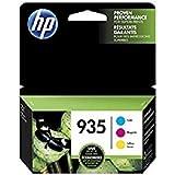 HP 935 Cyan, Magenta & Yellow Original Ink Cartridges, 3 Pack For HP Officejet 6812, 6815, 6820, 6825, HP Officejet Pro 6230, 6830, 6835
