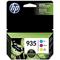 HP 935 Cyan, Magenta & Yellow Original Ink Cartridges, 3 Cartridges (C2P20AN, C2P21A, C2P22AN) for HP Officejet 6812 6815 HP Officejet Pro 6230 6830 6835