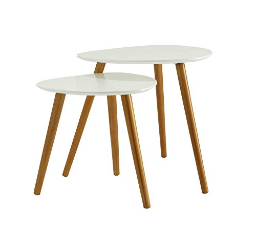 Convenience Concepts Oslo Nesting End Tables, White Review