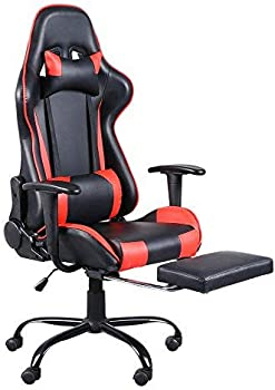 Teeker High Back Swivel Racing Office Gaming Chair with Footrest Tier