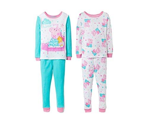 Peppa Toddler Girls Pig Pajama Set - Pink/Turquoise 2T-4T (2T) for $<!--$21.99-->