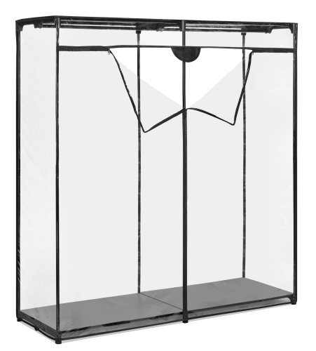 Whitmor Extra Wide Clothes Closet - Freestanding Garment Organizer with Clear Cover - bedroomdesign.us