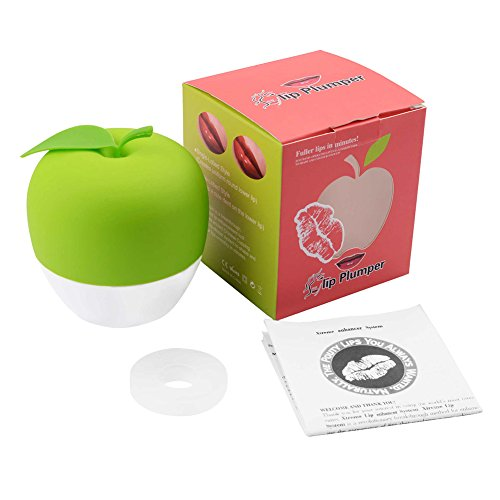 Price comparison product image Leoie Lip Plumper Enhancer Device, Hot Sexy Full Mouth Quick Beauty Lip Pump Enhancement Green Double or Red Single Lobbe (Green)