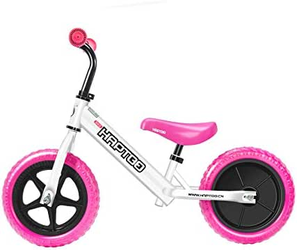HAPTOO Kids Balance Bike, No Pedal Toddler Bike 7/10/12 inch [Vary for Ages 1.5-5 Year Old Boys Girls] Adjustable Handlebars/Seat Lightweight Kids Bicycle/Best Present [Vary Styles]
