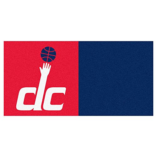 FANMATS NBA Washington Wizards Nylon Face Team Carpet Tiles by Fanmats