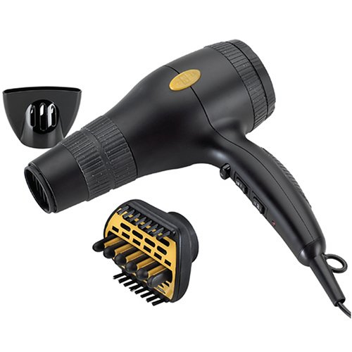 Gold N Hot GH2240 Professional 1875 Watt Ionic Hair Dryer with Duetto Styler Ceramic Attachment For Sale