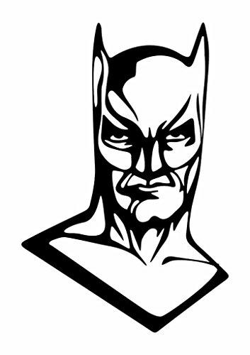 Batman Arkham City Costumes Cheats Xbox 360 (Batman Face Vinyl Decal Sticker|Cars Trucks Vans Walls Laptops Cups|Black|6.5 Inch|KCD873)