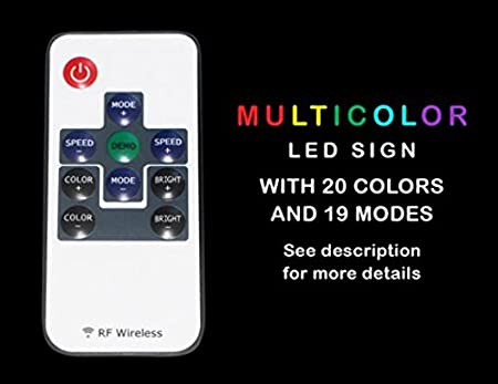 Multi Color i767-c Girls Night Club Bar Beer Wine Neon LED Sign with Remote Control, 20 Colors, 19 Dynamic Modes, Speed & Brightness Adjustable, Demo Mode, Auto Save Function ADVPRO