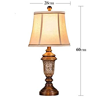 bedside table lamps warm retro simple crystal lamps a