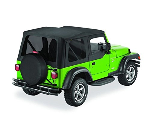 Bestop 51129-35 Black Diamond Replace-A-Top Soft Top Tinted Windows w/Upper Door Skins for 2003-2006 Jeep Wrangler (Except Unlimited)