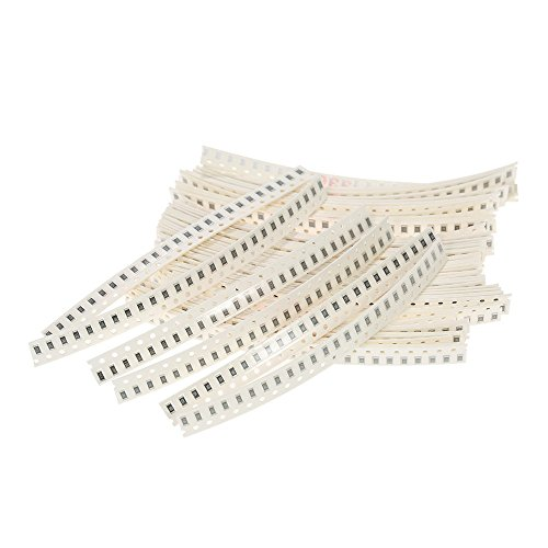 TPKSY 1250pcs 50 Values 1206 SMD Resistor Assorted Kit 0R~10MR 5% Electronic Components