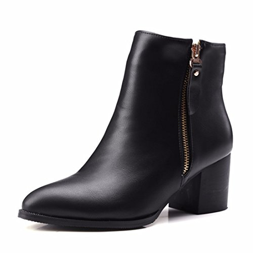 RFF-Women's Shoes Europe and America Fashion Boots, Big Shoes Black