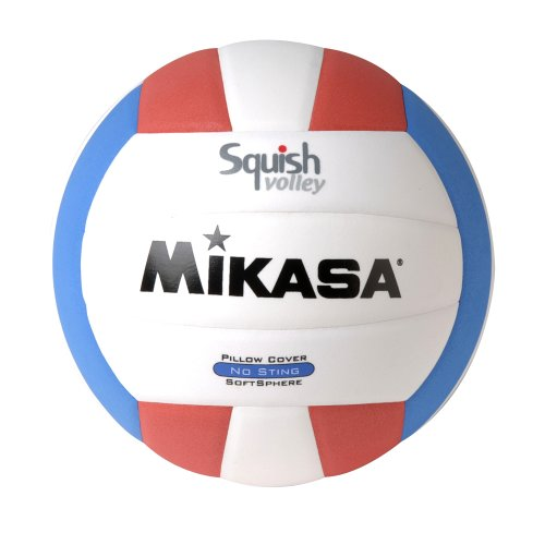Mikasa Squish No-Sting Pillow Cover Volleyball (Red/White/Blue) - Individual Pool Balls