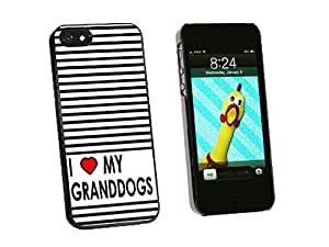 Graphics and More I Love Heart My Granddogs Snap-On Hard Protective Case for iPhone 5/5s - Non-Retail Packaging - Black