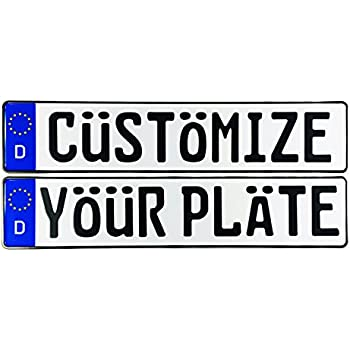 Amazon Com England Uk License Plate Personalized Custom
