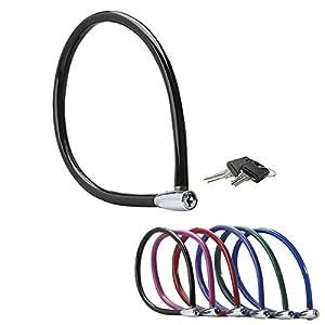 41WCHcTIXTL. SS300 MASTER LOCK Lucchetto Bici [Chiaivi] [55 cm Cavo] [Esterno] [Colore Casuale] 8630-F - Ideale per Proteggere Bicicletta…