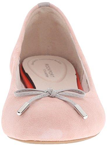 Rockport TOTAL MOTION 20MM Lazo de la mujer Ballet Flat Pink Haze Kid Suede